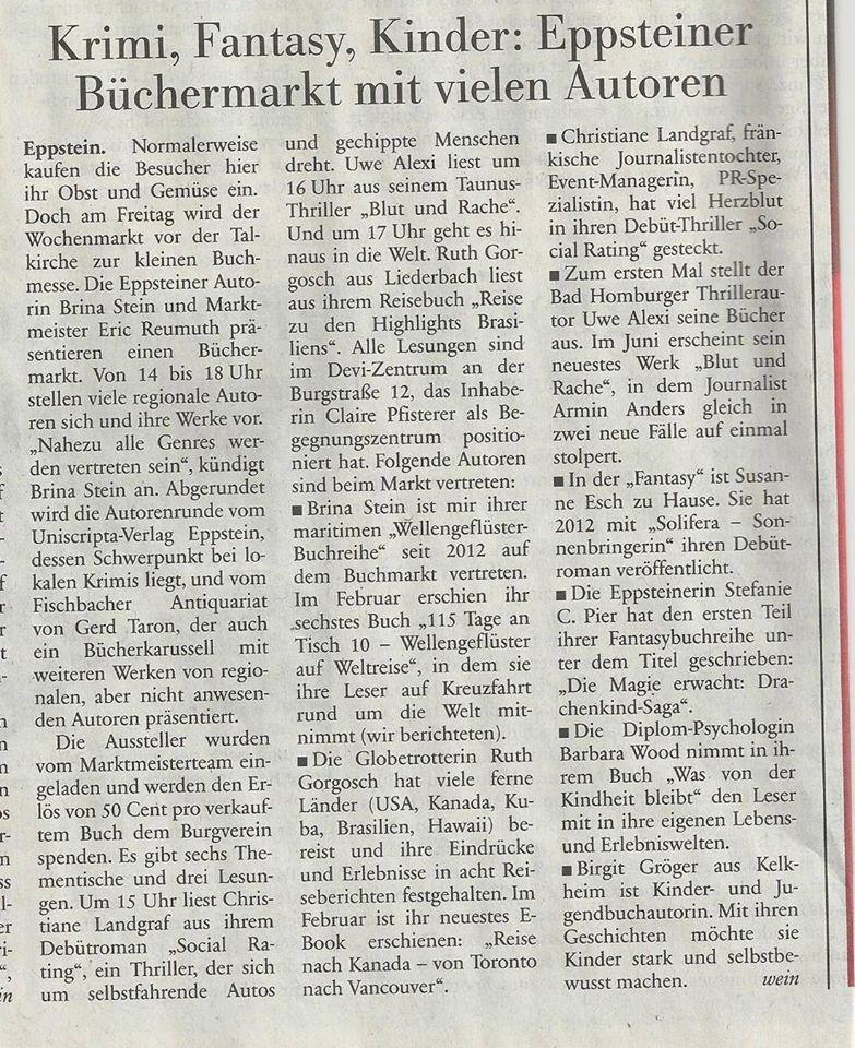 Zeitung Büchermarkt Eppstein