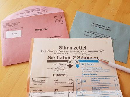 Wahlunterlagen, Briefwahl